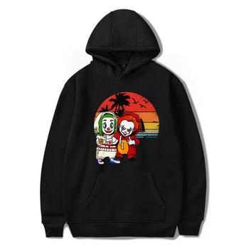 Hooded Hoodies Sweatshirts Chucky Joker Winter Pullover Sweatshirt Men Hip Hop Hoodie Streetwear Sweatshirt Womens Bluzy Damskie фото