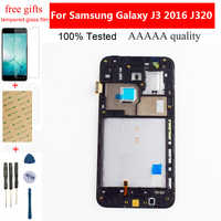 Adjustable LCD Display for Samsung Galaxy J3 2016 J320 LCD Touch Screen J320FN Assembly + Frame for J320A J320F J320P J320M LCD