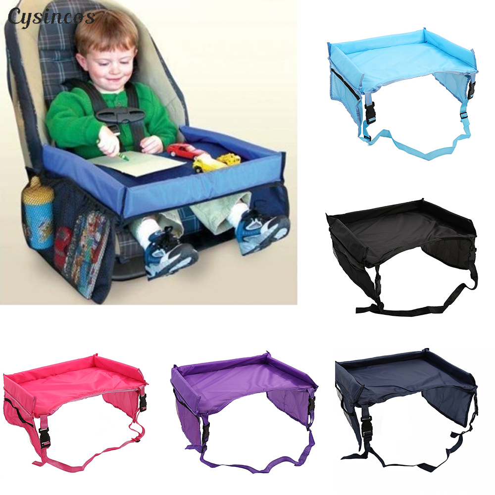 LOOZYKIT Baby Car Seat Tray Stroller Kids Toy Food Water Holder Desk Children Portable Table For Car New Child Table Storage