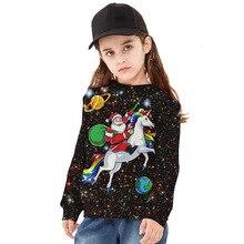 Толстовка лошадь Санта-Клауса; Рождественская одежда для мамы, дочки, сына и мамы; одинаковые комплекты для семьи; толстовки с капюшоном для мамы и ребенка
