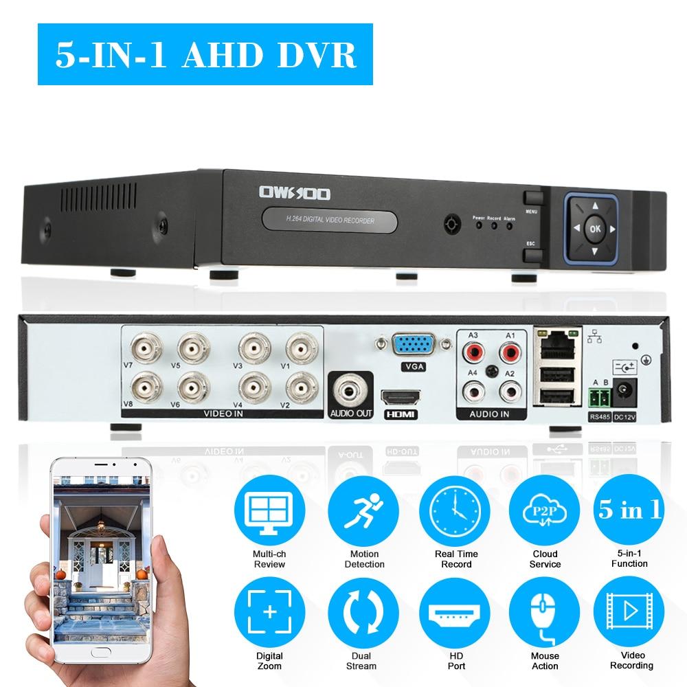 XVR 8CH canal 1080P hybride NVR AHD TVI CVI DVR 5 en 1 PTZ réseau DVR CCTV sécurité P2P APP contrôle pour caméra de Surveillance |