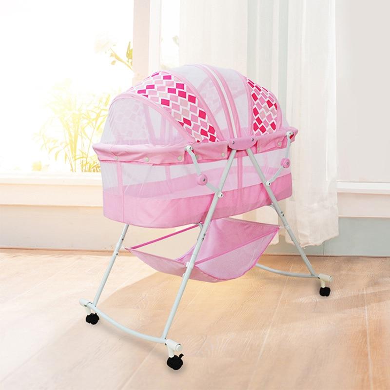 Multifunctional Foldable Baby Portable Baby Crib Baby Sleeping Basket Baby Nursery Light Newborn Cardle 0-12M