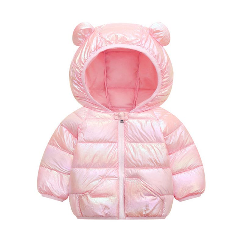Children Solid Color Coat Boys Trendy Cotton Clothes Girls Fashion Hooded Outerwear Kids Casual Warm Jacket Kids Winter Clothes 2