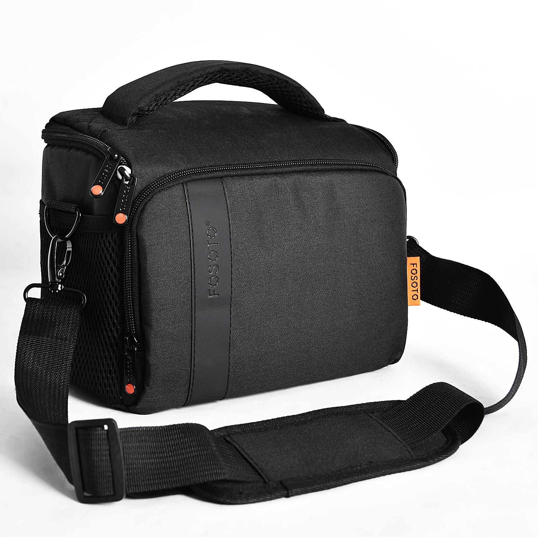 FOSOTO Digital DSLR Camera Bag Waterproof Shoulder Bag Video Camera Case For Canon Nikon Sony Lens Pouch Photography Photo Bag