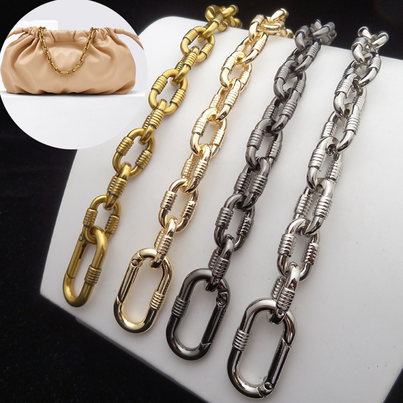 Women Purse Chain Bag Strap Metal Bag Chain DIY Accessory Replacement Lock Buckle Wallet Chain For Crossbody Bag Factory Supply