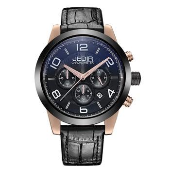 New Fashion Luxury Men Watch Leather Strap Waterproof Multifunctional Business Men's Quartz Watch Men's Gift Relogio Masculino