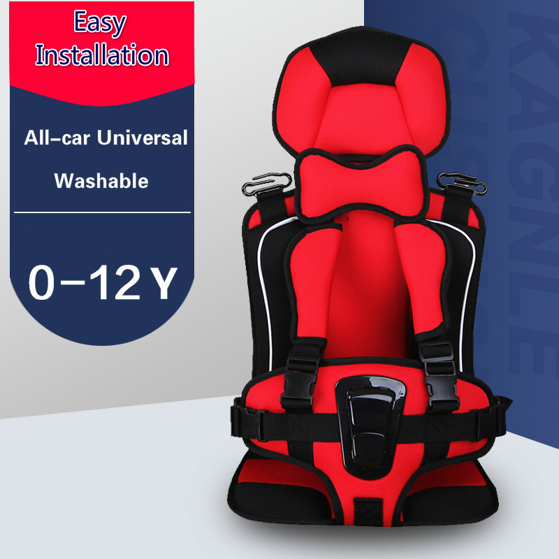 Child Safety Seat Cushion Portable Baby Car Seat Liners Foldable Simple Safety Car Seat Removable Washable Car Seat Booster