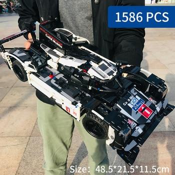 1586pcs 1:9.5 F1 Formula Racing Car Building Block Technic Series Mechanical Power DIY Toys For Children