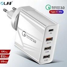 OLAF szybkie ładowanie 3.0 wielu USB ładowarka dla iPhone X Xiaomi Samsung S9 Huawei QC4.0 QC3.0 QC C PD szybka ściana telefon komórkowy ładowarka