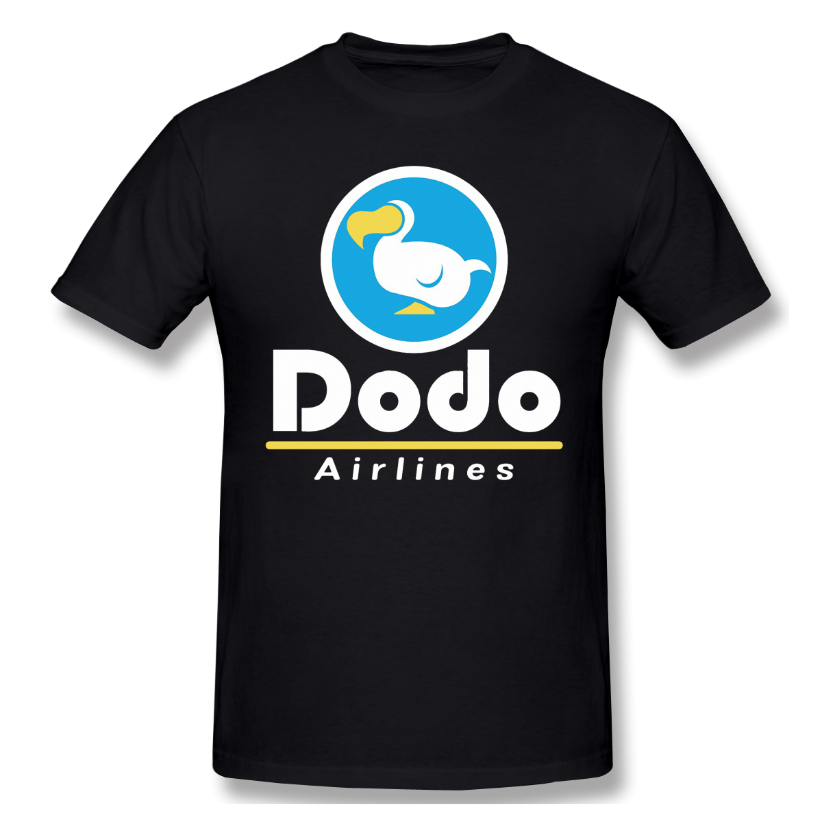 Dodo Airlines Logo Funny T-Shirt Men Summer O Neck Casual Cotton T Shirt Graphic Tee Animal Crossing Crew Neck Top Free Shipping