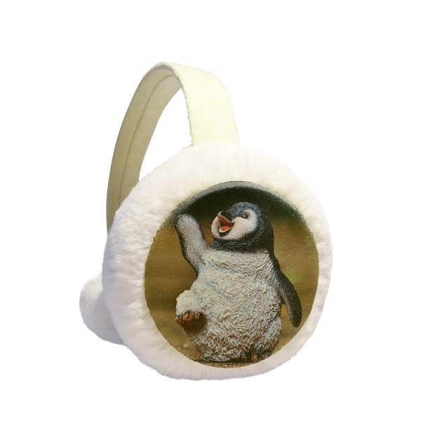 Creature Antarctic Cute Penguin Science Nature Winter Earmuffs Ear Warmers Faux Fur Foldable Plush Outdoor Gift