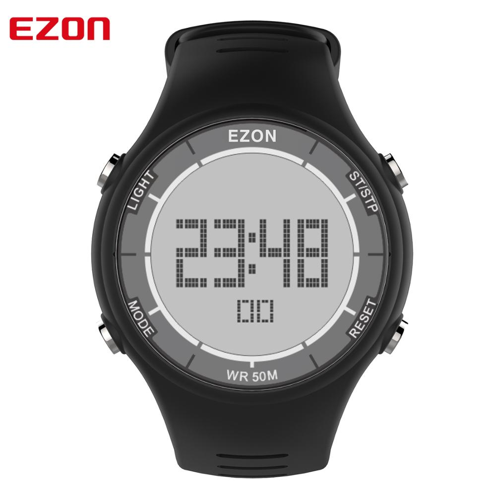 EZON L008 Casual Men Digital Sports Watch Stopky Alarm Double Time Chronograph 50M Waterproof Wristwatches Relogio Masculino