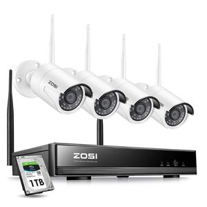 ZOSI 8CH Wireless CCTV System H.265+ 1080P NVR 2CH/4CH 2MP IR-CUT Outdoor CCTV Camera IP Security System Video Surveillance Kit(China)