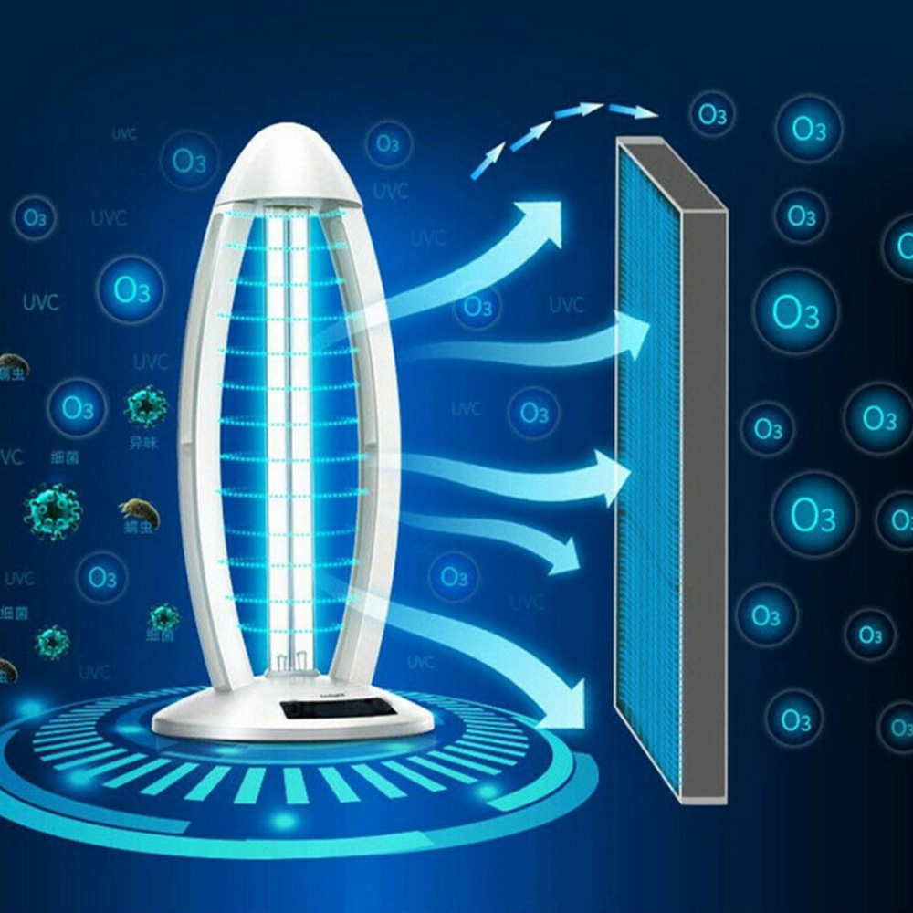 Esterilizador ultravioleta, lámpara de desinfección UVC germicida de 38W y 220V, esterilización de luces bactericidas de 253,7 nm