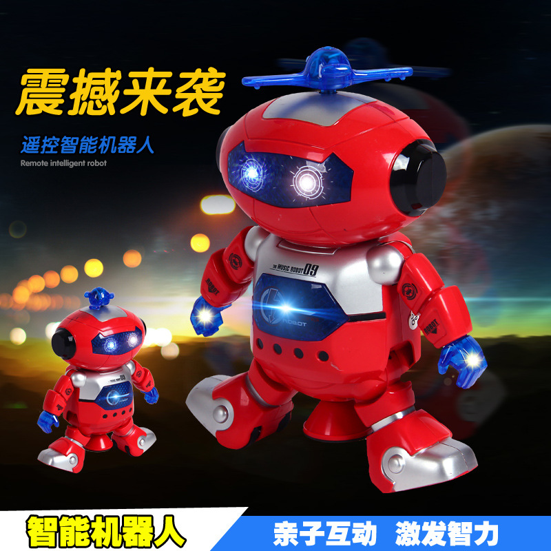 Genuine Product Breeze Space Dancing 360-Degree Dazzle Spin Dancer Robot Electric Children Early Childhood Educational Music Toy