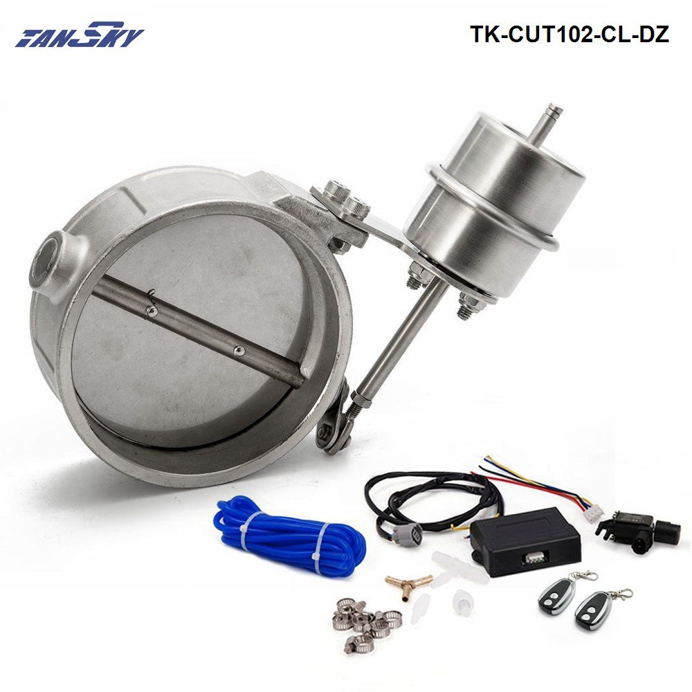"""Exhaust Control Valve With Vacuum Actuator Cutout 4/"""" 102mm Pipe Closed with ROD"""