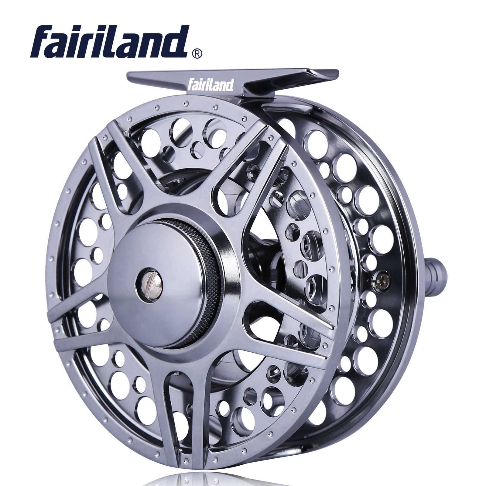 <font><b>70</b></font> 80 90 100mm 3BB fly fishing reel CNC Machined Aluminum fly reel 1/<font><b>2</b></font> 3/4 <font><b>5</b></font>/6 7/8 w/ INCOMING CLICK L/R Hand interchangeable image