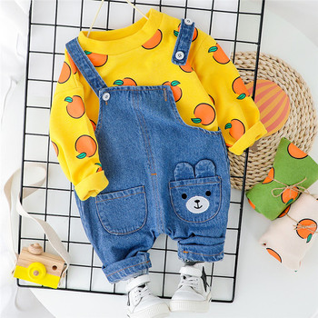 цена на Baby Boys Girls Clothes Sets 2020 Spring Newborn Boy Long-sleeved Clothing T shirt+Bibs Pants 2PCS Sport Suit Infants Casual Set