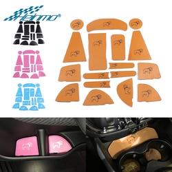 Dla MINI Clubman F54 mata do drzwi samochodowych podstawki pod kubek mata uchwyt do MINI F54 F 54 wnętrze stylowe dekoracje akcesoria na