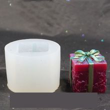 Epoxy Resin Candle Silicone Mold Christmas Gift Box Aroma Gypsum Mold Diy Craft Party Decor Soap Resin Casting Making