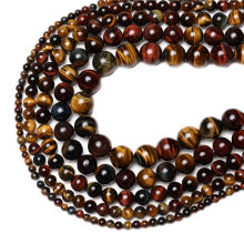 Afrika Alami Tricolor Tiger Mata Mata 4-14 Mm Alami Batu Permata DIY Pesona Beads untuk Perhiasan Membuat Hot Sale(China)