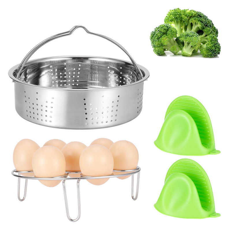 Basket Electric-Fryer Egg-Rack-Set-Accessories Food for Pressure-Cooker Kitchen Utensil