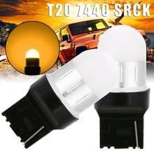 Light Bulb 2pcs LED Turn Signal Backup Reverse  Amber T20 7440 SRCK 9SMD 3030 9LED yellow