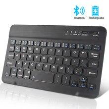 Kablosuz klavye Mini Bluetooth klavye için iPad Apple Mac Tablet klavye telefon için evrensel destek IOS Android Windows