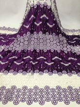 Best Selling African Lace Fabric With Beaded Nigerian French Fabric, 2018 High Quality African Tulle Lace Fabric For(China)