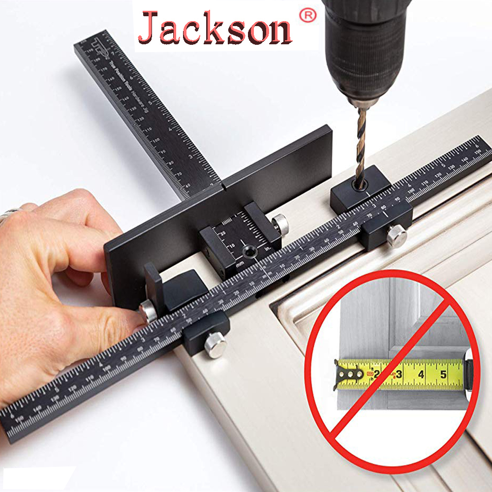 Woodworking Tools Cabinet Hardware Jig Tool - Drill Template Guide for Door and Drawer Handle + Knob + Pull Installation Tools(China)