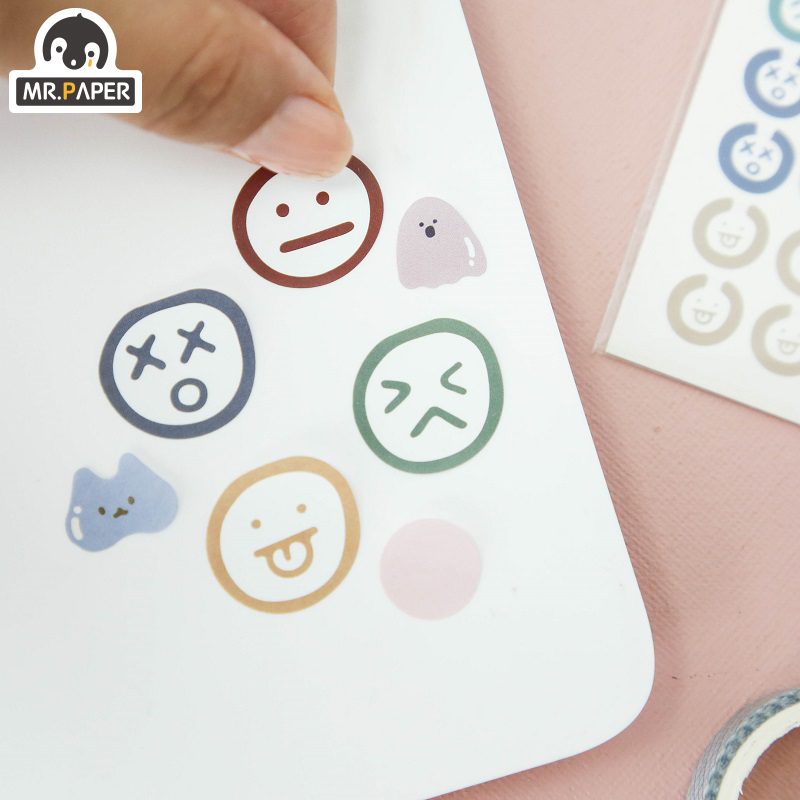 Mr.paper 3pcs Summer Day Waterproof Stickers Decals Creative Bullet Journal Planner Graffiti Scrapbooking Deco Stickers School