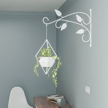 Кованые железо стена навесная подвесная корзина крючок растение цветок горшок вешалка балкон сад дом украшение
