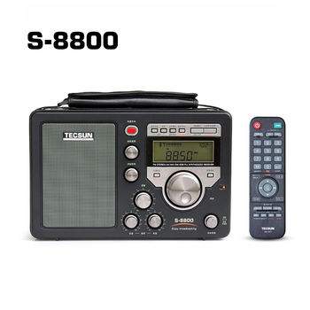 TECSUN S-8800 Digital tuning PLL DSP AM/FM/LW/SW All band HAM Amateur Radio Stereo Receiver with Remote Control T1218