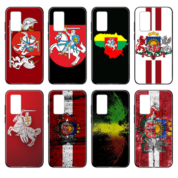 Lithuania Latvia flag Phone case cover hull For Huawei nova P Y 2 3 6 7 8 9 10 20 30 I Smart Plus Z Lite Pro II black cell cover image