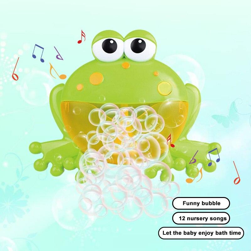 Bath Toy Frog Bubble Frog&Crab Bubbles Soap For Kids Bubble Toy Machine Bath Funny Bubble Liquid Bath Toys For Children Kids
