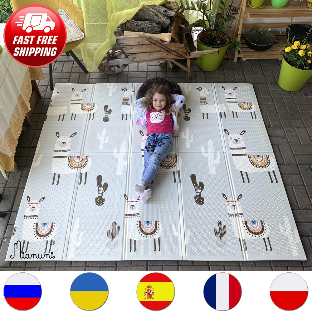 Miamumi детский игровой коврик активности Тренажерный зал ковры для ребенка 200X180CM 78X70IN алфавит и изображением динозавра толстые XPE коврик Водон...