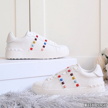 White Shoes Platform Flat Casual Fashion Women Small Designer Size35-45 And