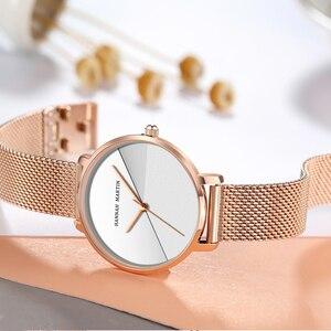 Image 5 - Женские часы топового бренда, роскошные японские кварцевые наручные часы, индивидуальная из нержавеющей стали с Соединенным циферблатом