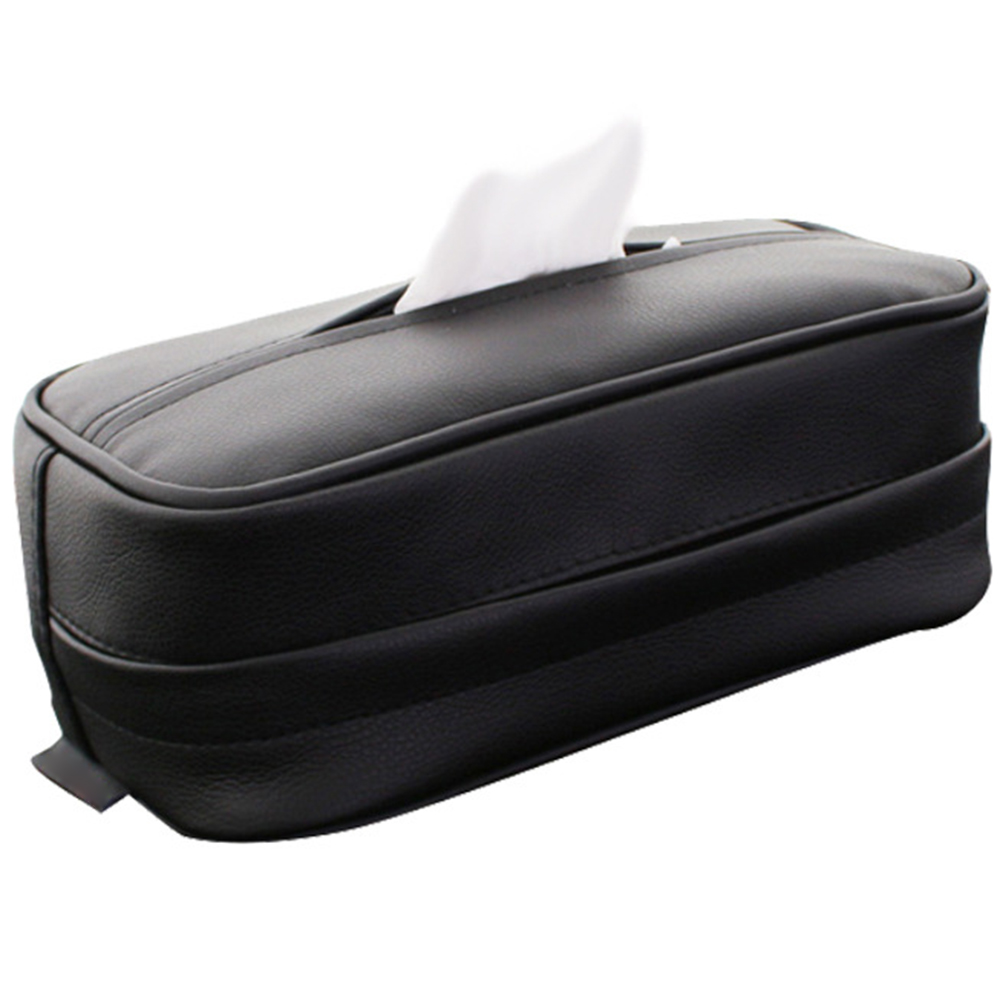 Creative Leather Boxes Car Part Pumping Paper Napkin Holder For Tissue Storage Tool Kit Hanging Sun Visor Tissue Box|Tissue Boxes| |  - title=