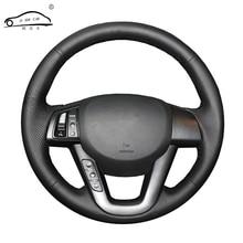מלאכותי עור רכב הגה צמת עבור Kia K5 2011 2012 2013 Kia אופטימה/תפור לפי מידה היגוי כיסוי