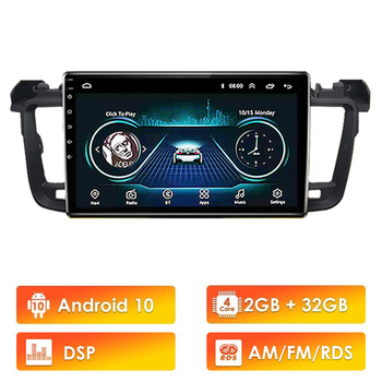 For peugeot 508 2011-2018 2 din Android 10 DPS RDS Car multimedia Player WIFI FM GPS Navigation Autoradio image