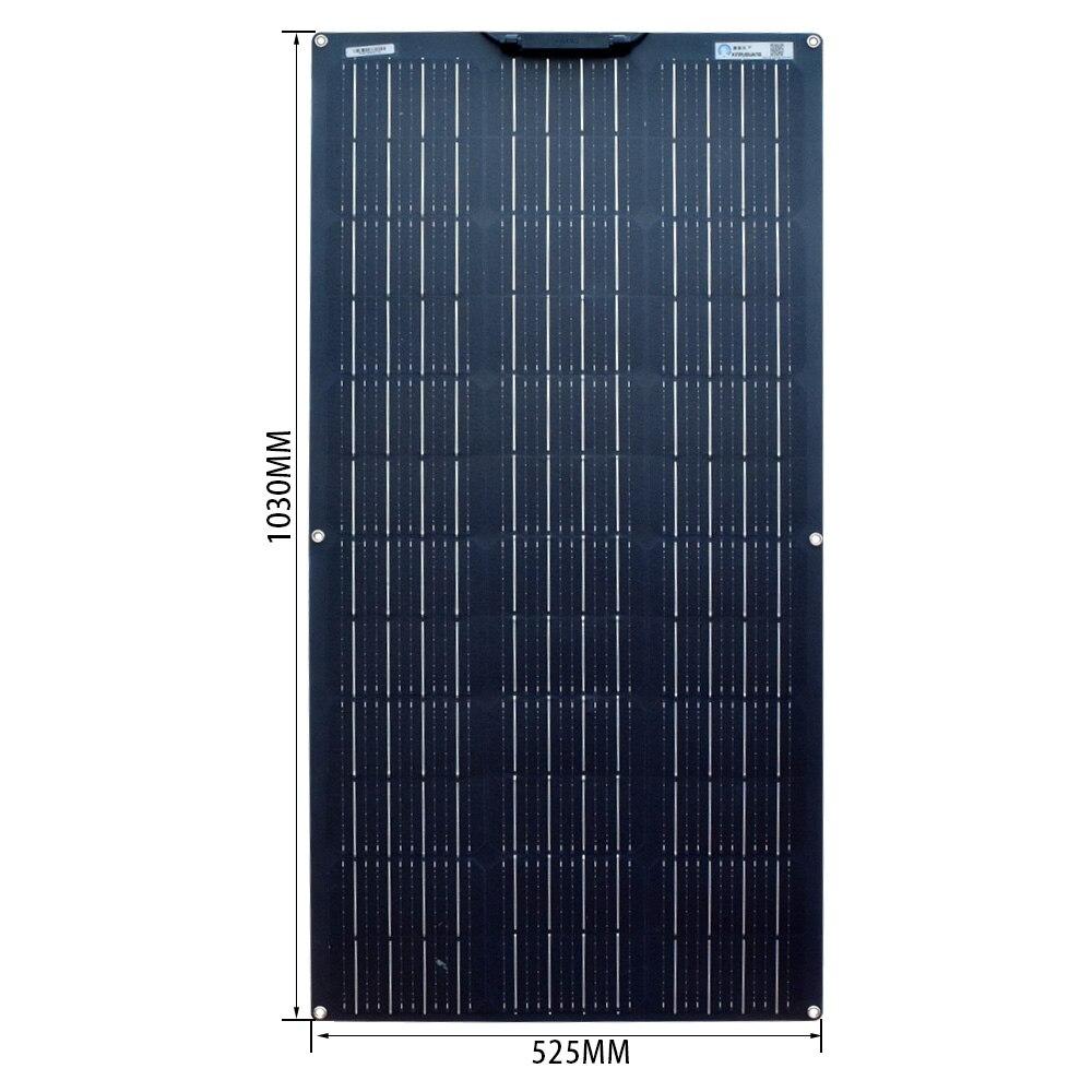 100 Watt flexibel monokristallines SolarModul biegbar Hohe Effizien 100W 12V Panel mono Solarzelle Photovoltaik für Wohnmobil Gartenhäuse Boot