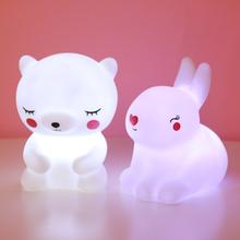 Carton Dinosaur Led Night Light BabySleeping Toy Kids Christmas Gifts for New Year Unicorn Lamp Creative Animal Night Lamp Decor