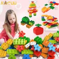 Diy acessórios tamanho grande compatível duploed blocos de construção bloco montagem diy tijolos construção brinquedos para crianças