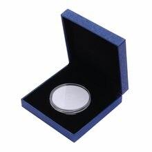 Mayitr azul coin organizer medalha apresentação caixa de exibição ajustar caso com cápsula para a coleção do dinheiro
