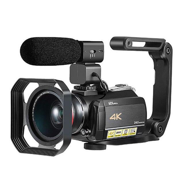Caméscope numérique WIFI 4k avec affichage tactile 3.0 ''/12 X Zoom optique caméscope numérique professionnel à usage domestique