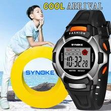 Synoke子供デジタル腕時計の少年学生防水スポーツ腕時計ledデジタル日付腕時計ガールズボーイズ腕時計