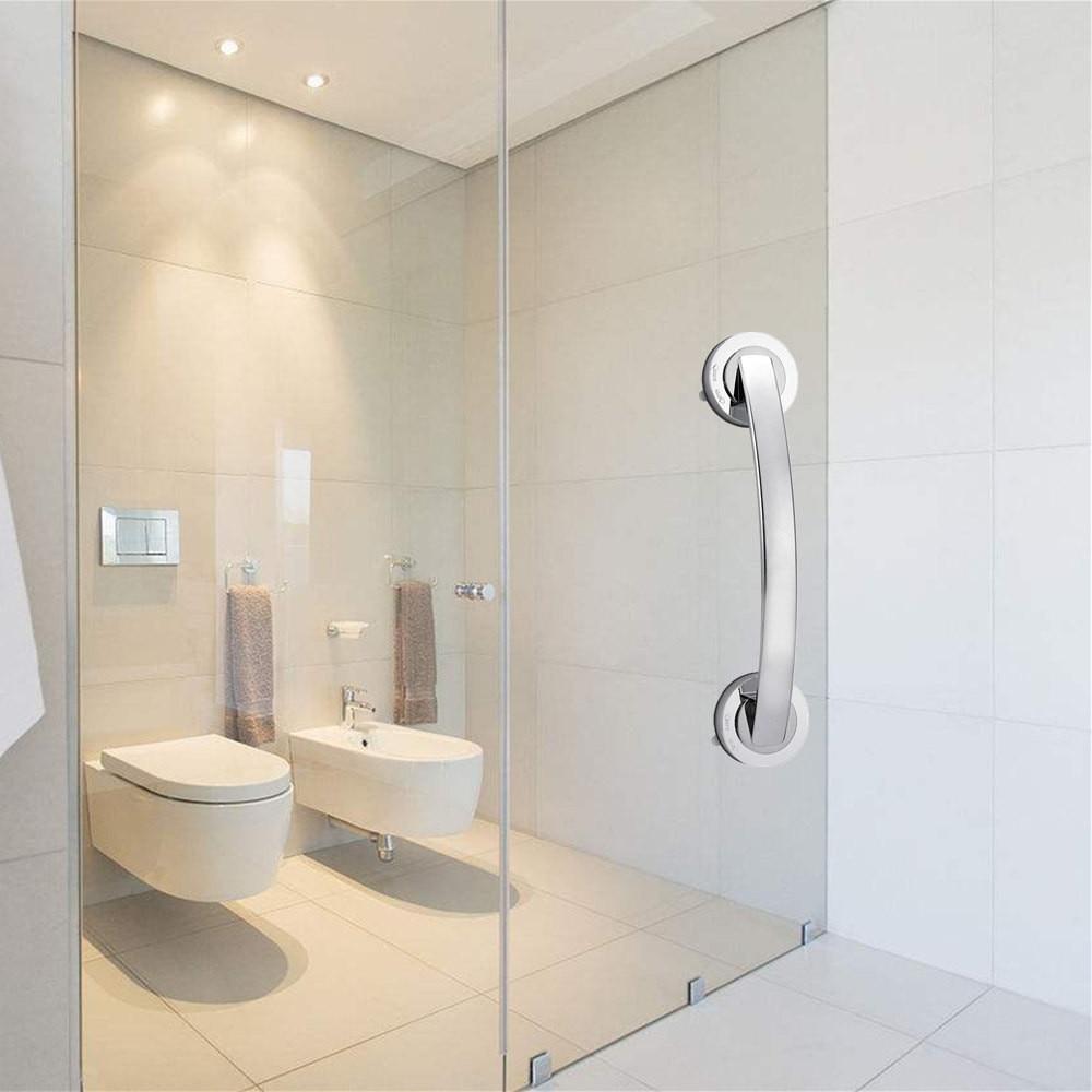 Bath Shower Grip Handle Bathroom Suction Anti-slip Safety Cup Rail Tub Grab Bar