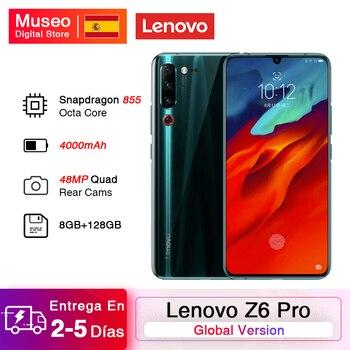 Перейти на Алиэкспресс и купить Глобальная версия смартфона Lenovo Z6 Pro 8 Гб 128 ГБ Восьмиядерный Snapdragon 855 6,39 дюймFHD задняя 48MP Quad Camera аккумулятор 4000 мАч