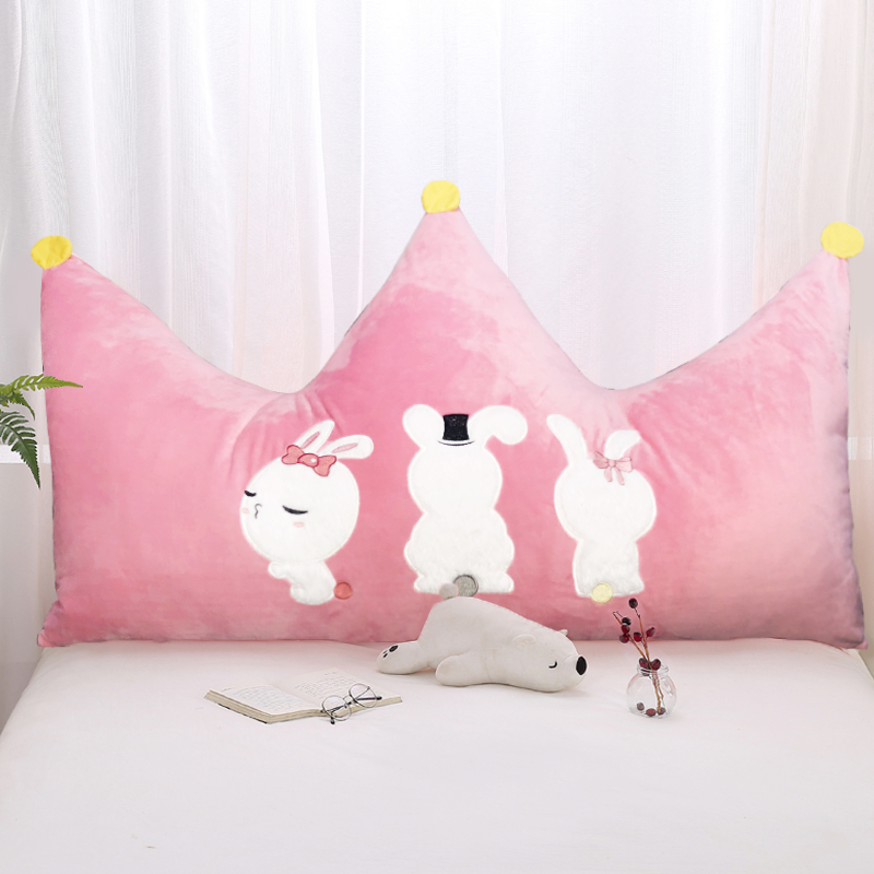 Pillow Cute Soft Bag Red Crown Bedside Cushion Large Backrest Children Princess Bedroom Bed Double Pillow
